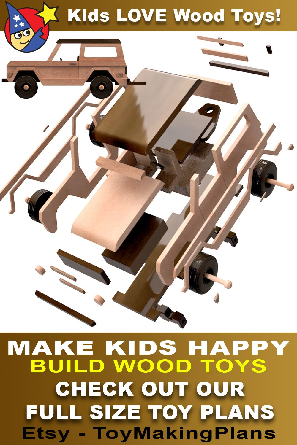 1963 Ford Bronco Trailer Mud Truck Wood Toy Plans 3 Pdf
