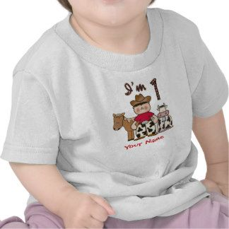 Cowboy  First Birthday Personalized T Shirts