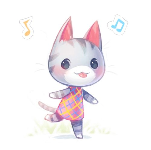 cute animal crossing characters cat