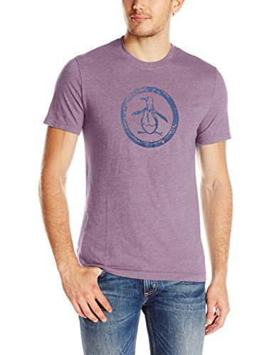 Mens Distressed Circle Logo T-Shirt Original Penguin Outlet Wiki MBWrkc