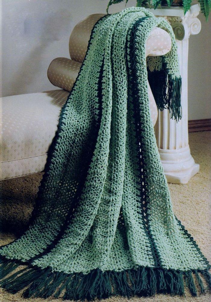 Pdf Digital Download Vintage Crochet Pattern Roll Stitch Afghan