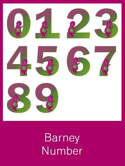 Barney Numbers - FREE PDF Download   123   Pinterest   Cumpleaños