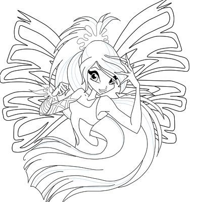 Kleurplaten Winx Club Sirenix.Winx Club Bloom Harmonix Coloring Pages Winx Club