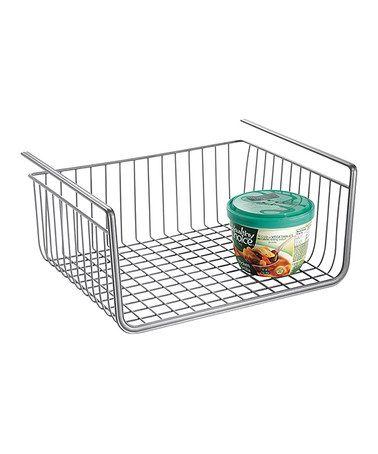 Look what I found on #zulily! Silver York Lyra Under-Shelf Basket by InterDesign #zulilyfinds
