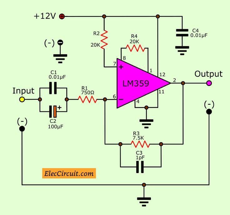 Sensational Video Amplifier Circuit Using Lm359 Eleccircuit Com Amplifier Wiring Database Denligelartorg
