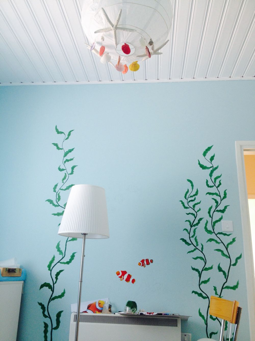 Under the sea themed nursery room for
