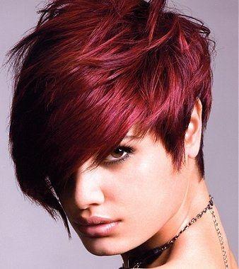 coloration rouge coiffure Couleur cheveux rouge, Couleur