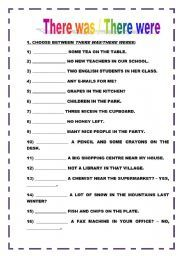 english worksheet there was vs there were there is are english grammar exercises english. Black Bedroom Furniture Sets. Home Design Ideas