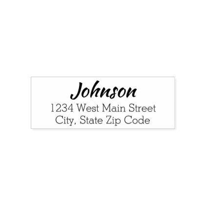 simple return address label self inking stamp in 2018 return