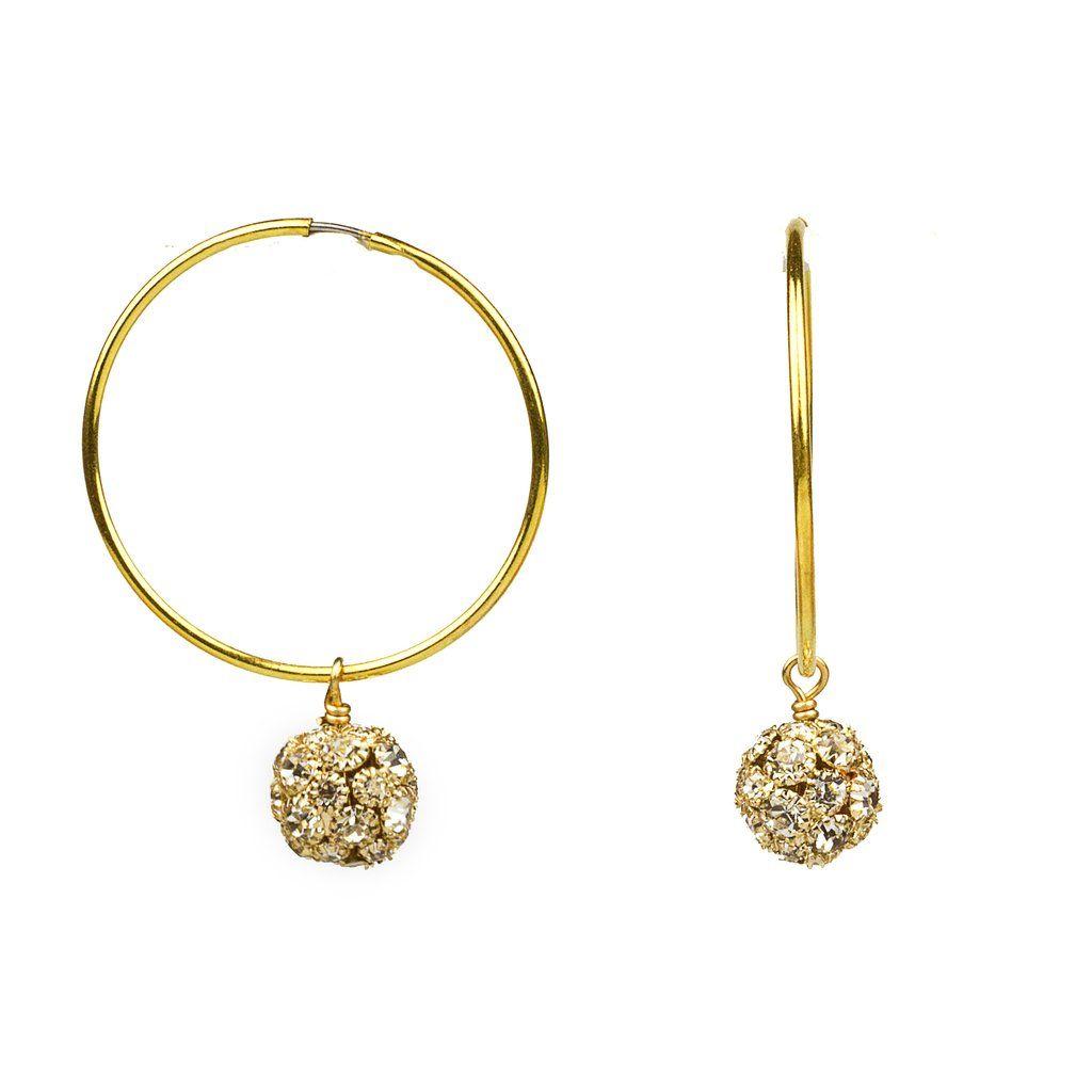 e4668e754 John Wind Infinity Swarovski Crystal Ball Hoop Earrings (gold & silver)