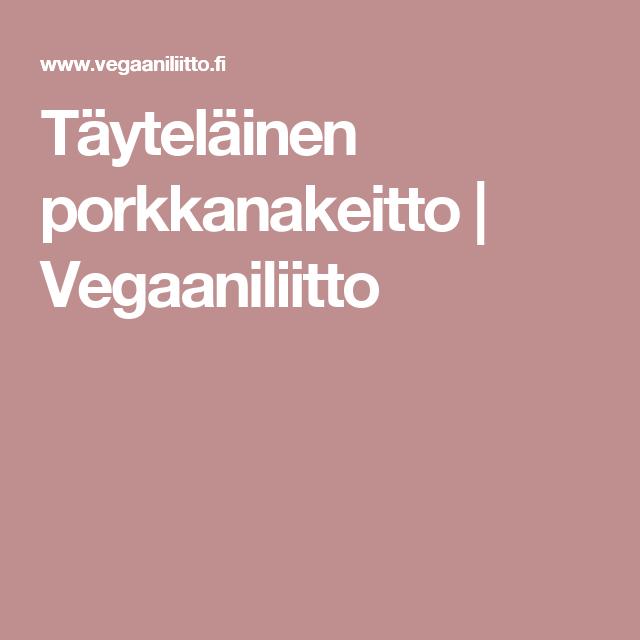 Täyteläinen porkkanakeitto | Vegaaniliitto