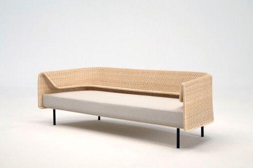 minimalist modern landscape design with rattan sofa   Wrap   Rattan sofa, Sofa, Furniture