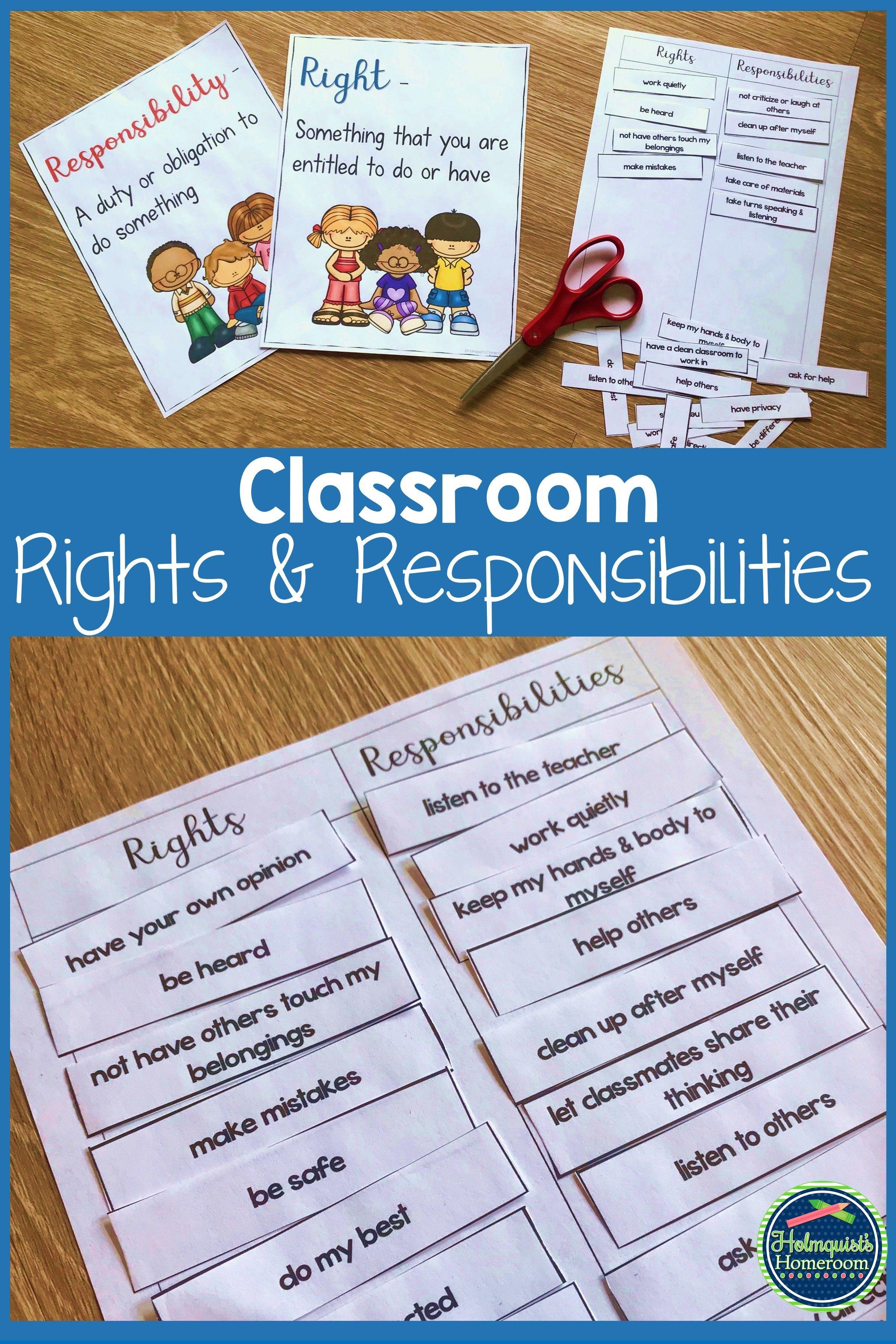 medium resolution of Classroom Rights and Responsibilities   Rights and responsibilities