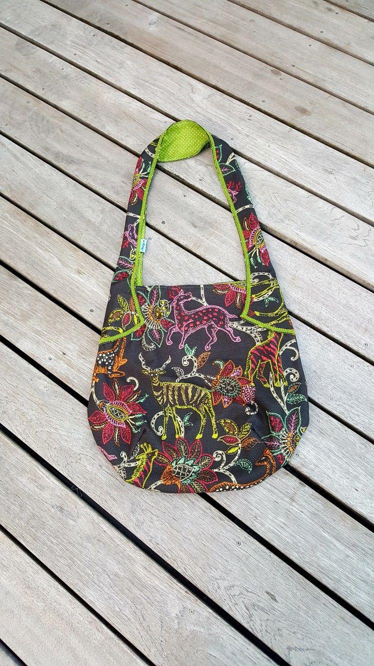 Seitentasche (auf 120% vergrößert) nach dem Schnitt von Farbenmix. Stoff vom Stoff- und Tuchhändler in Verlden