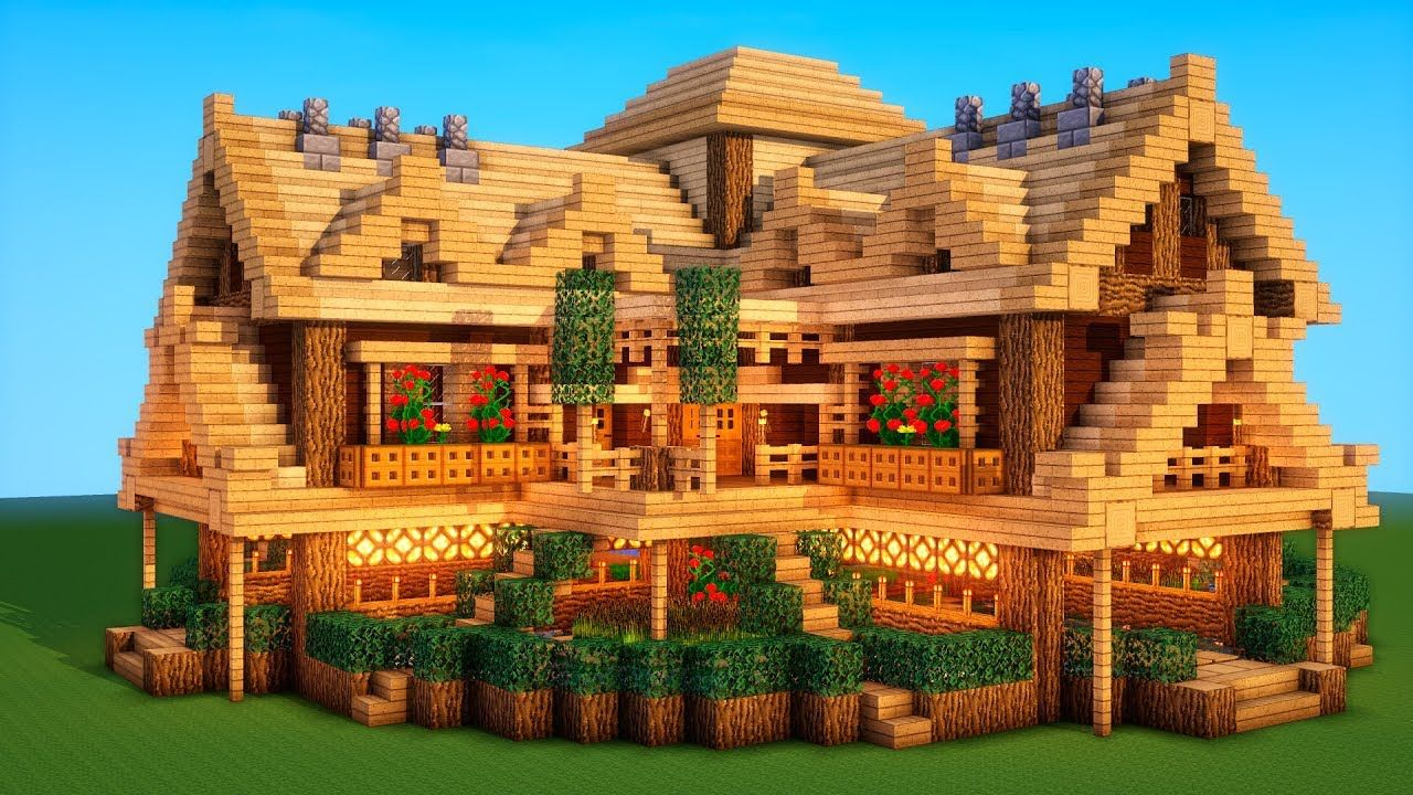 Ultimate Minecraft Survival Base With Everything You Need To Survive 2 Youtube Minecraft Houses Survival Cute Minecraft Houses Minecraft Mansion