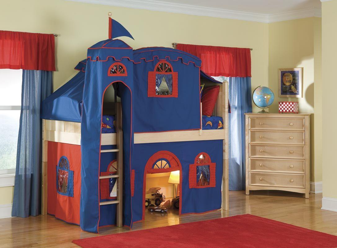Elegant Playroom Castle Pottery Barn Kids Loft Bed Design