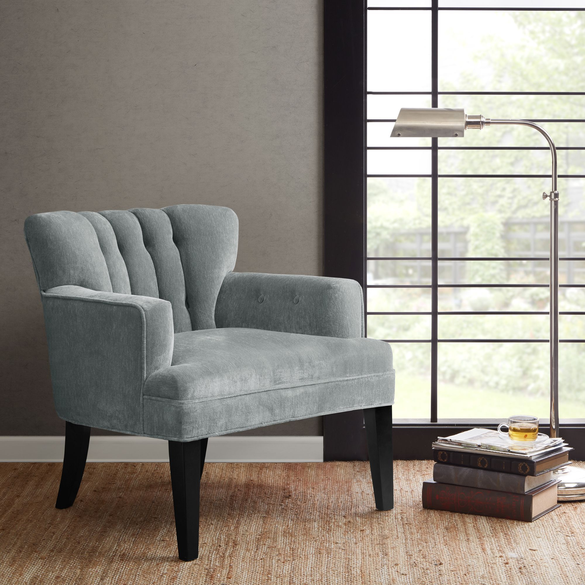 Living Room Club Chairs Madison Park Gianna Blue Tufted Club Chair 2975w X 31d X 31h