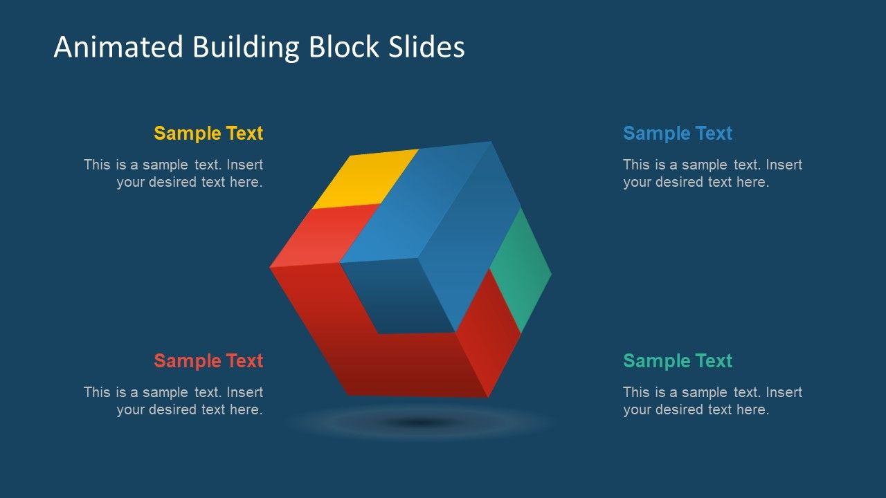 hight resolution of 3d cube powerpoint diagram
