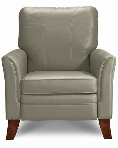 Riley High Leg Recliner By La Z Boy In Grey El990954 Leather