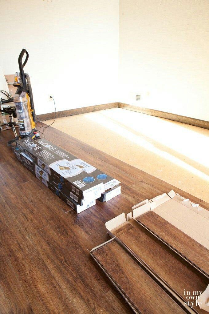 NuCore waterproof luxury vinyl plank flooring that has a