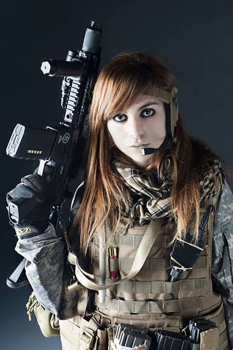 So Here S A Airsoft Pic With A Not So Amused Dame In Tactical Gear