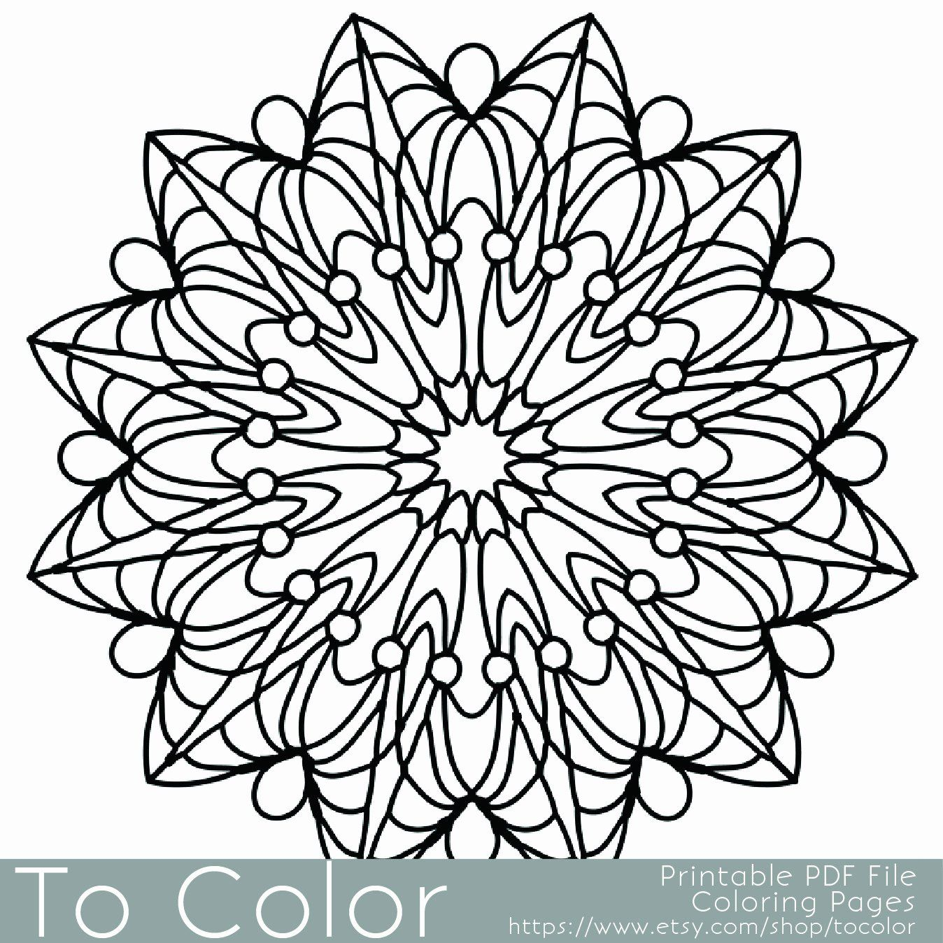 Printable Coloring Pictures For Adults In 2020 Mandala Coloring