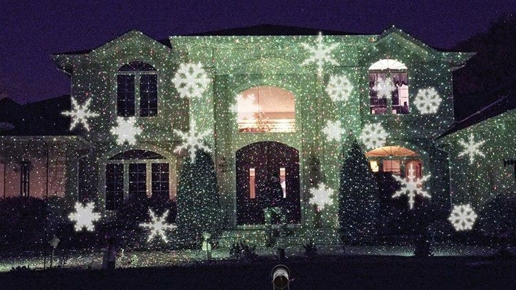 Beautiful Outdoor or Indoor moving Snowflake Light proyector for