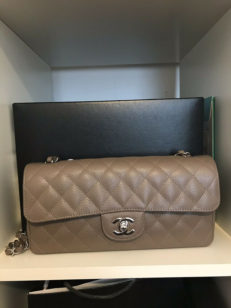 9a36959b3697 chanel east west flap (Pre owned) Taupe Color | Fashion in 2019 ...
