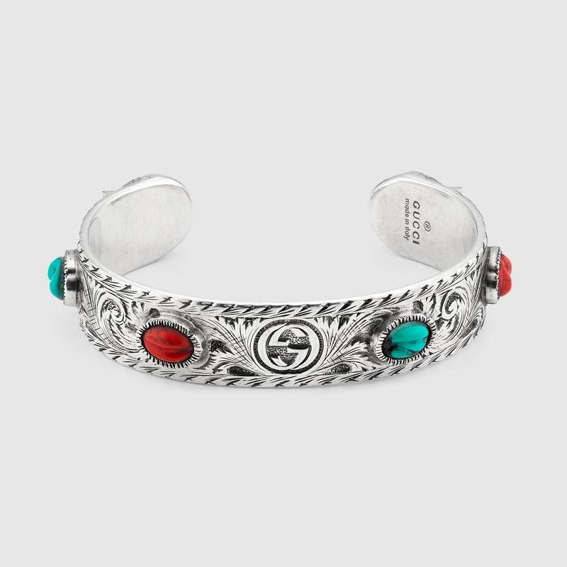 f419241103f Shop the Gucci Garden cuff bracelet by Gucci. A sterling silver cuff  bracelet enriched with