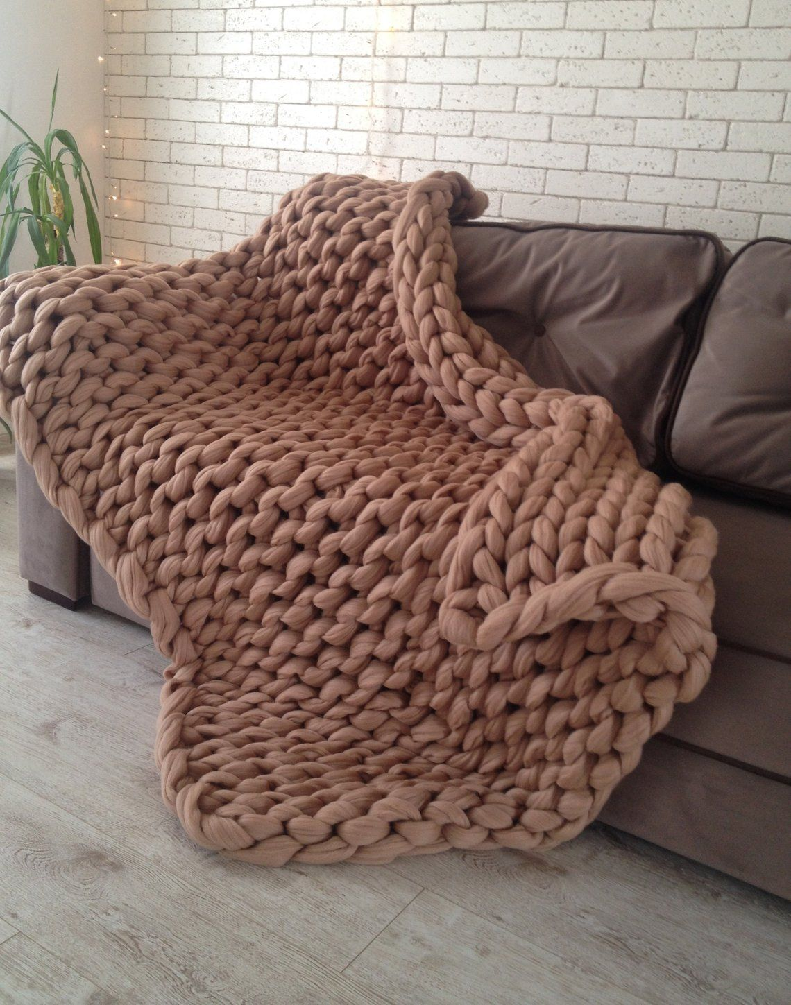 Chunky Knit Blanket Chunky Knit Throw Merino Wool Blanket Etsy Arm Knitting Blanket Chunky Knit Blanket Knitted Blankets