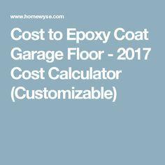 Calculator Cost To Epoxy Coat Garage Floor Epoxy Coating Garage Floor Epoxy