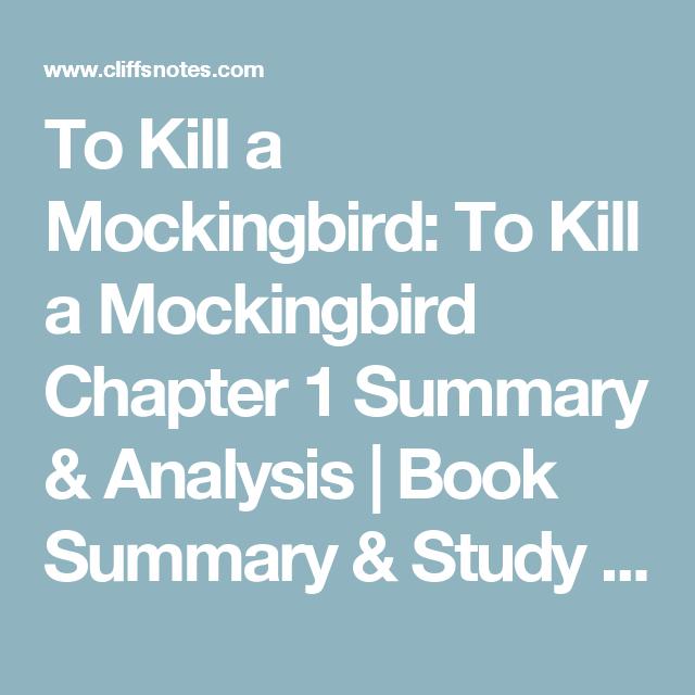 summary of part 1 to kill a mockingbird