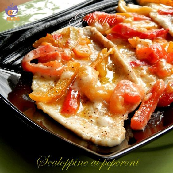Photo of Escalopes with peppers, a very tasty recipe GOLOSOFIA