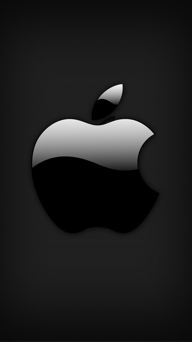 Black Glossy Apple Logo Best Iphone 5s Wallpapers In High