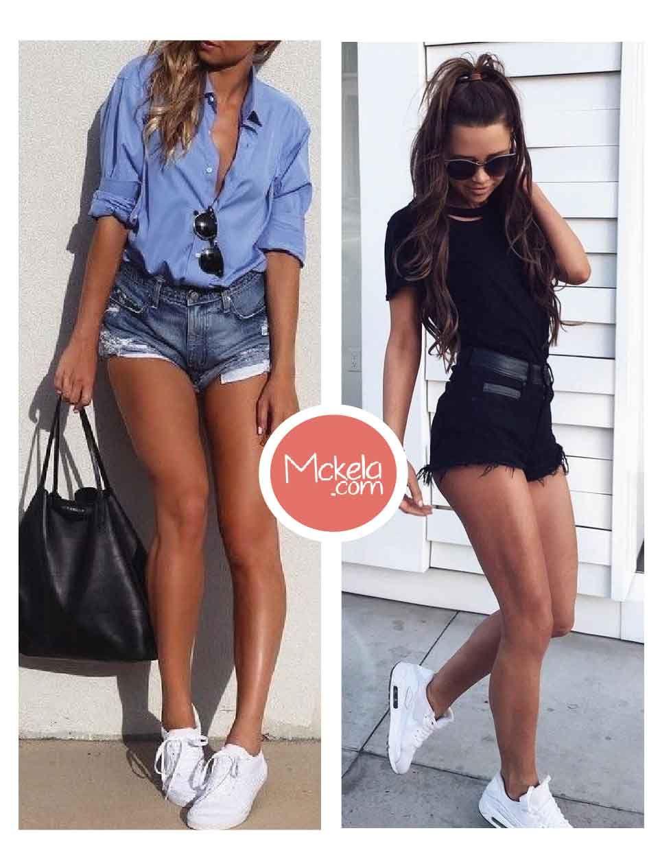 outfits con shorts para primavera u verano moda u fashion