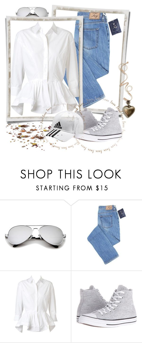 """Marvellous"" by jamuna-kaalla ❤ liked on Polyvore featuring Alaïa, Converse and adidas"