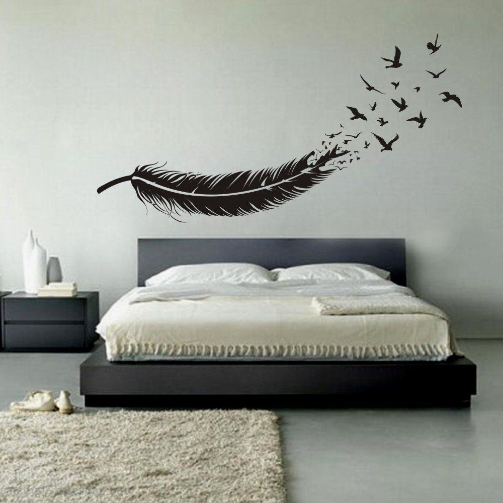 Robot Check Bedroom Decor Design Home Wall Decor Feather Wall