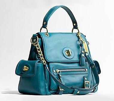Leather Shoulder Flap Business Tote Bag