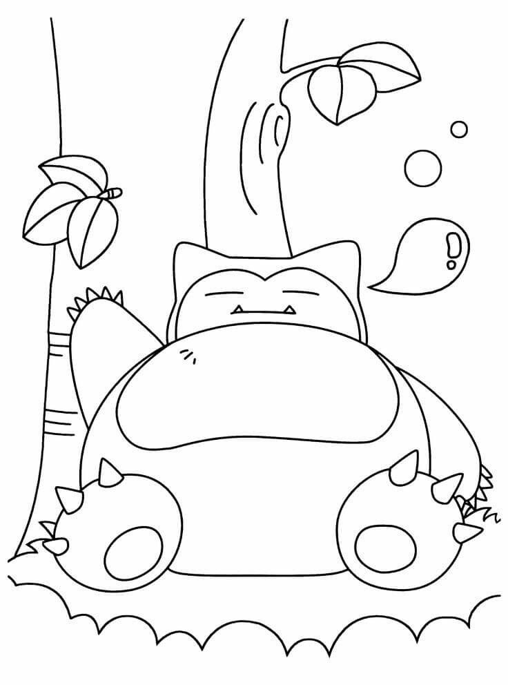 Pokemon Snorlax Coloring Pages   Pokemon coloring pages ...
