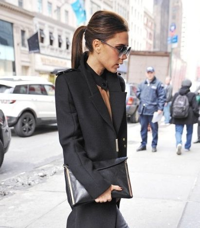 Terrific Victoria Beckham Professional Looking Ponytail Work Outfits Hairstyles For Women Draintrainus