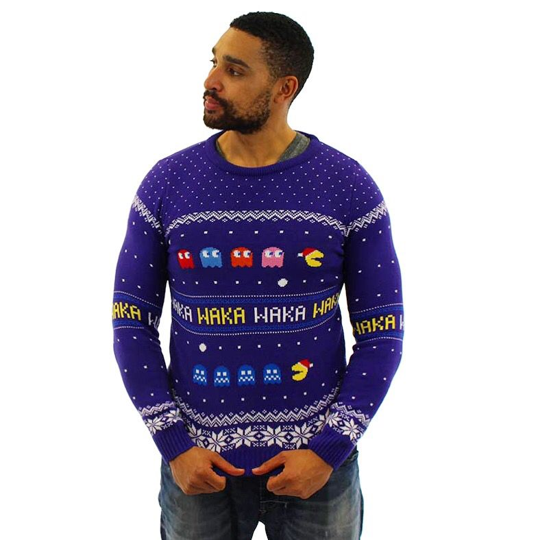 Pac-Man Official Christmas Jumper//Ugly Sweater