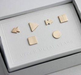 heehee, awesome earrings set for nerdy girls.
