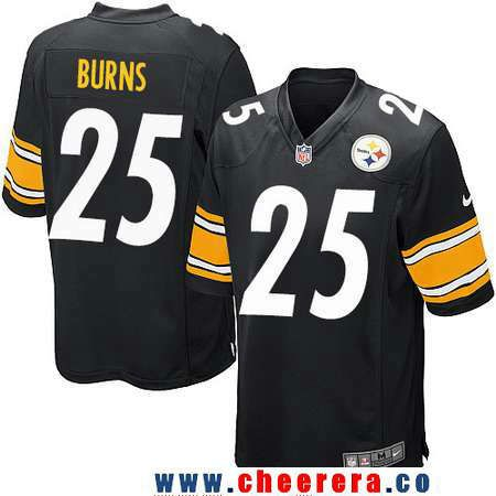 8e5bed827d4 ... Mens Pittsburgh Steelers 25 Artie Burns Black Team Color Stitched NFL  Nike Game Jersey ...