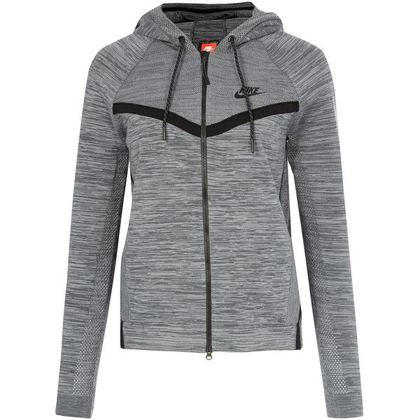 Nike Grey Tech Knit Windrunner ($195) ❤ liked on Polyvore featuring activewear, nike sportswear, nike activewear and nike
