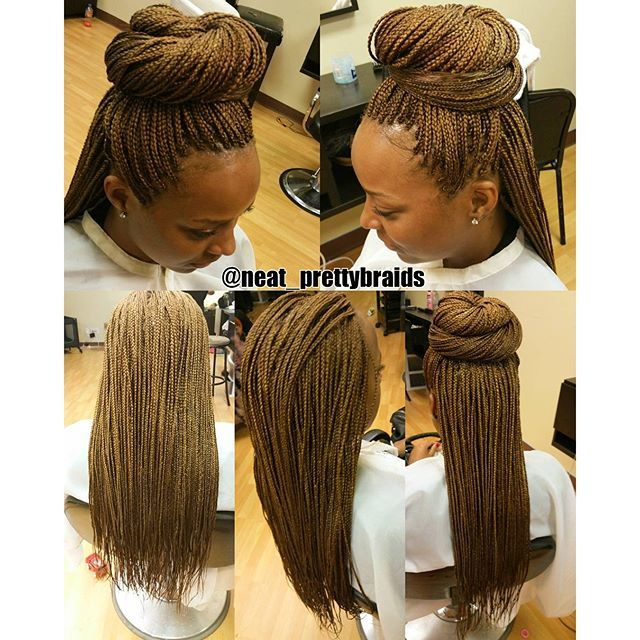 Small Boxbraids Color Used 1 Highlighted 27 Mixed 30 Hair Used Xpression Hair 4bags Length Xpression Hair Colored Box Braids Hairstyle Hub