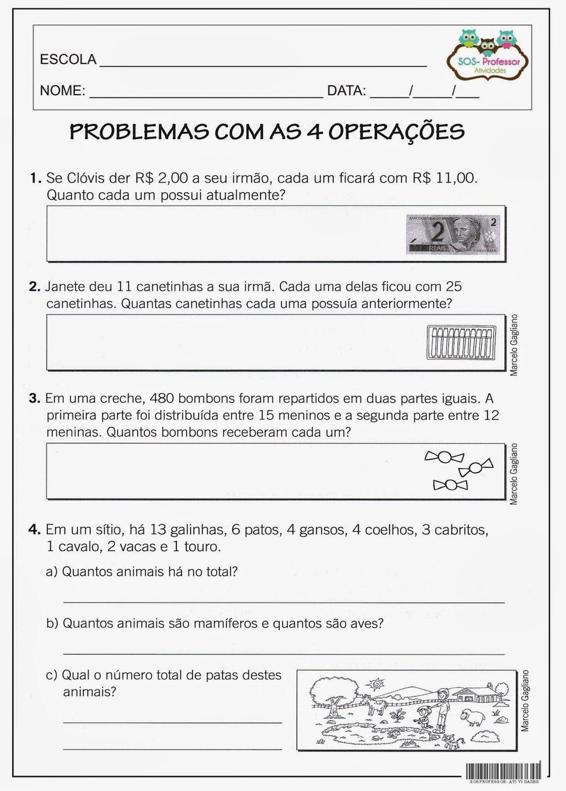 2c Jpg 1145 1600 Atividades De Matematica 3ano Expressoes Numericas Operacoes Matematicas
