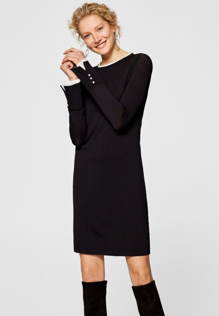 Robe Petite Straight Noire Dress Pull BlackLa uJcTl3FK1