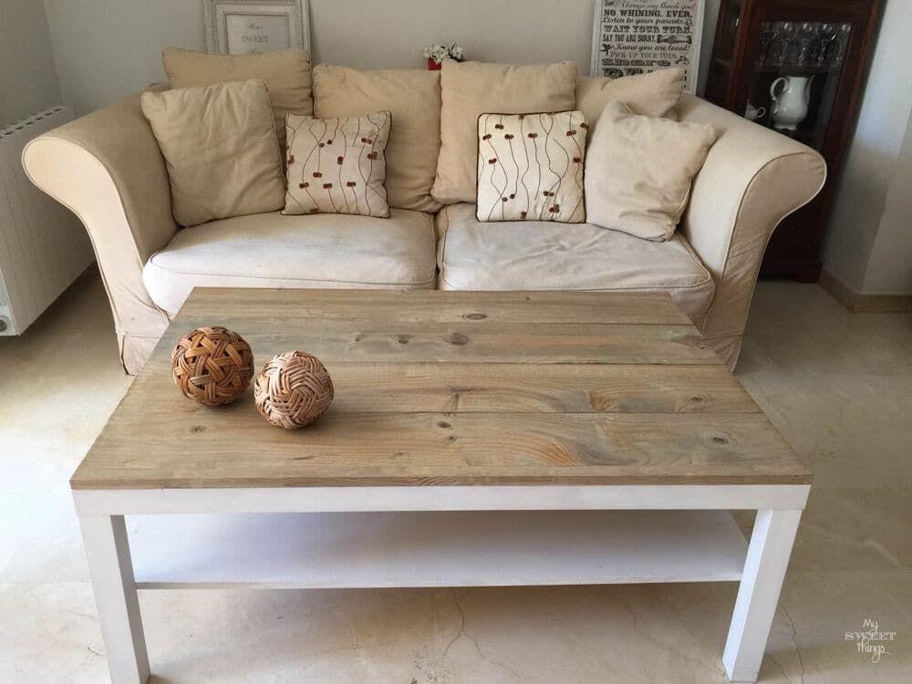 Tuneo de una mesa de centro ikea lack restaurar muebles for Mesas de centro salon ikea