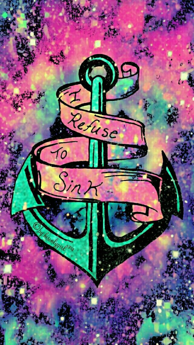 Refuse to sink galaxy iPhone/Android wallpaper I created