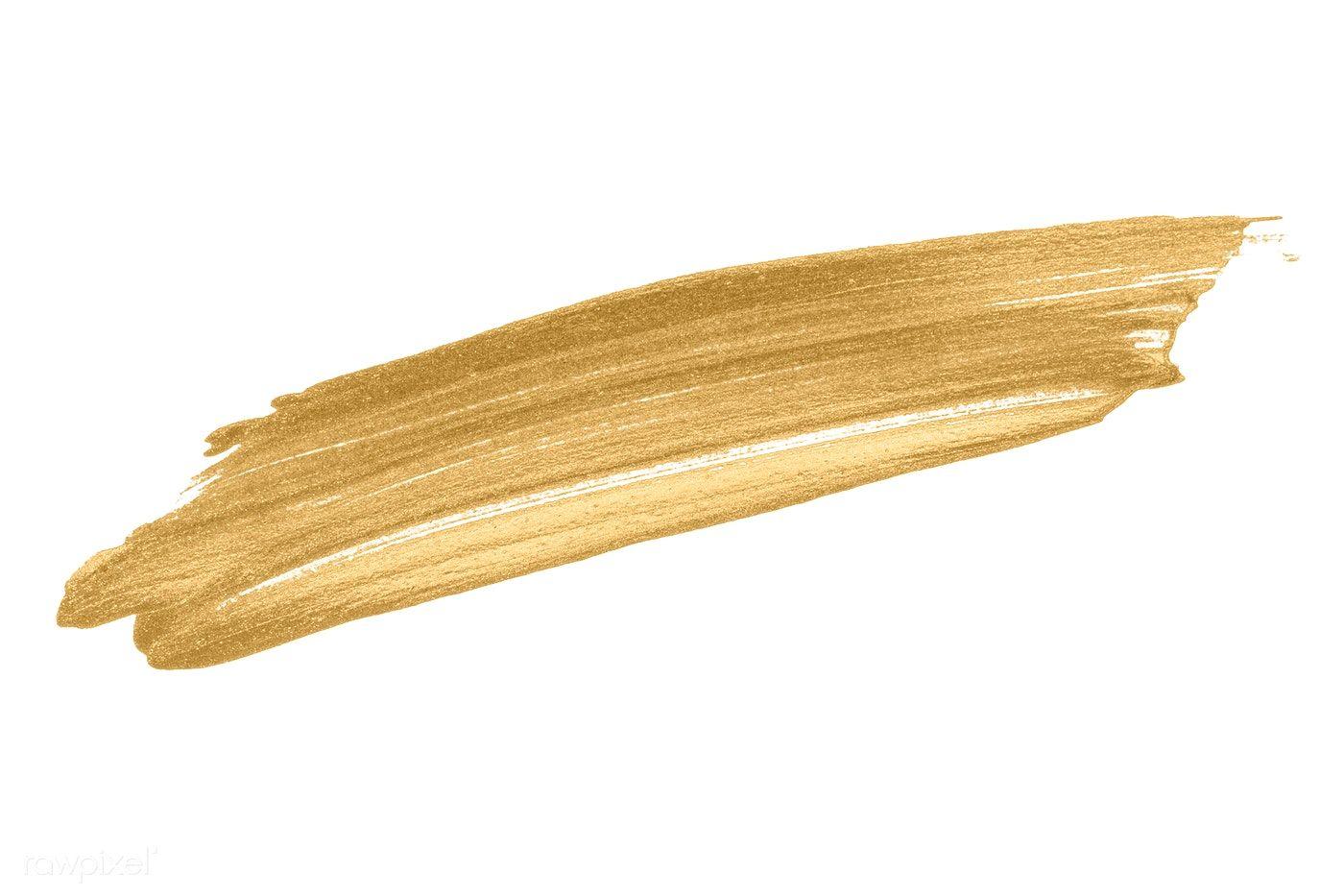 Festive Shimmery Golden Brush Stroke Free Image By Rawpixel Com Brush Stroke Png Brush Strokes Shimmery